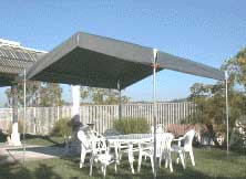 Light Weight Portable Shelter With Valance Tarp Top